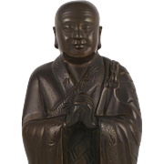 Standing Buddhist Monk - Chinese Bronze Figure