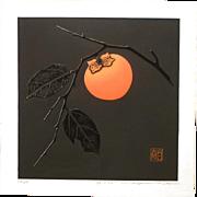 Haku Maki Signed Limited Edition Block Print - Persimmon  76-30