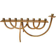 Menorah - 1950s Bronze with Good Patina