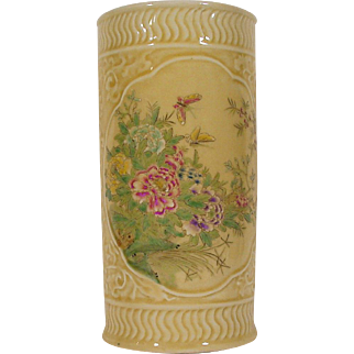 Chinese Porcelain Brush Holder - Kuang Hsu Reign mark - Guangxu