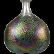 Kosta Boda Large 'Volcano' Bottle or Vase - Bertil Vallien