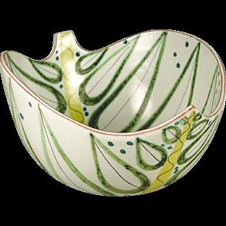 Gustavsberg Bowl By Stig Lindberg - Leaf Shape
