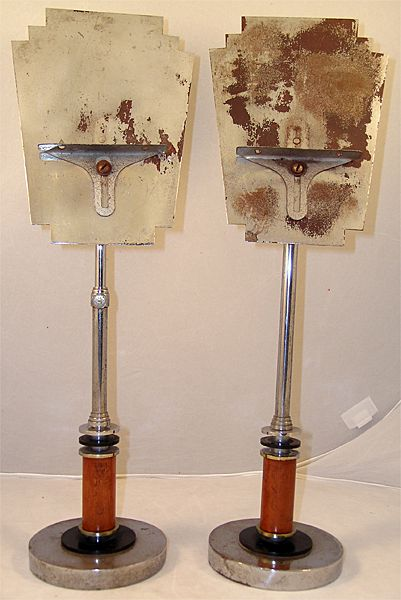 Rare Pair Art Deco Sheet Music Stands