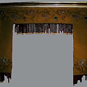 Rare Egyptian Revival Embroidered Window Valances