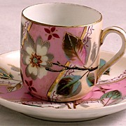 Antique Aesthetic Movement Cup & Saucer