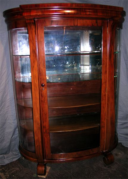 Empire Revival China Cabinet In Rosewood