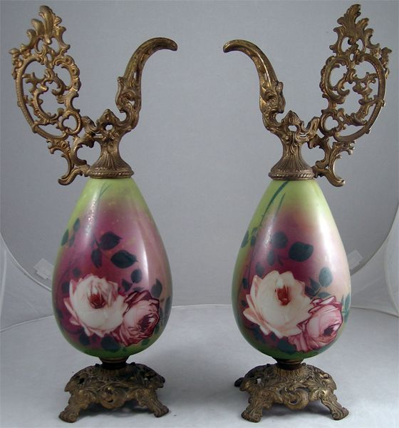 Lovely Pair of Victorian Mantel Ewers