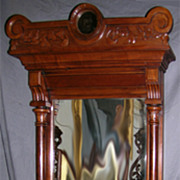 Eastlake Walnut Victorian Wall Mirror