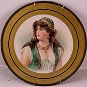 Rare Orientalist Flue Cover, Gypsy Girl