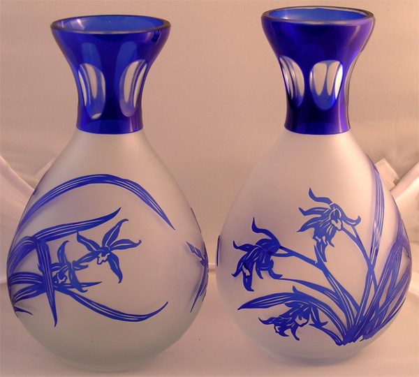 Fine Pair of Cameo Glass Vases Bohemian