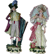 Extra Fine Pair of European Porcelain Statues