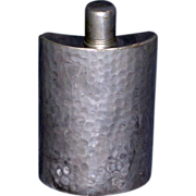 Vintage Hammered Silver Hip Flask