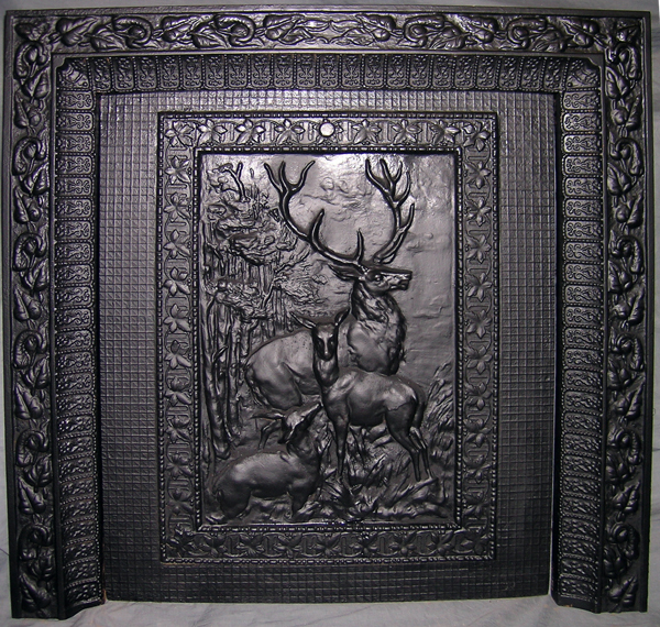 Title: Late Victorian Cast Iron Fireplace Insert Summer Cover