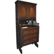 Extraordinary Jacobean Carved and Inlaid Cabinet Edwards & Roberts