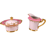 Exceptional Sugar and Creamer Set, Elegant Art Deco