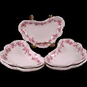 Set of Five Haviland Limoges Shaped Bowls