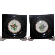 Pair Vintage Limoges Miniature Fish Plates