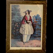 "Circa 1885 Fashion Illustration ""The Bloomer Costume"""