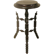 Ebonized Aesthetic Movement Pedestal Plant Stand