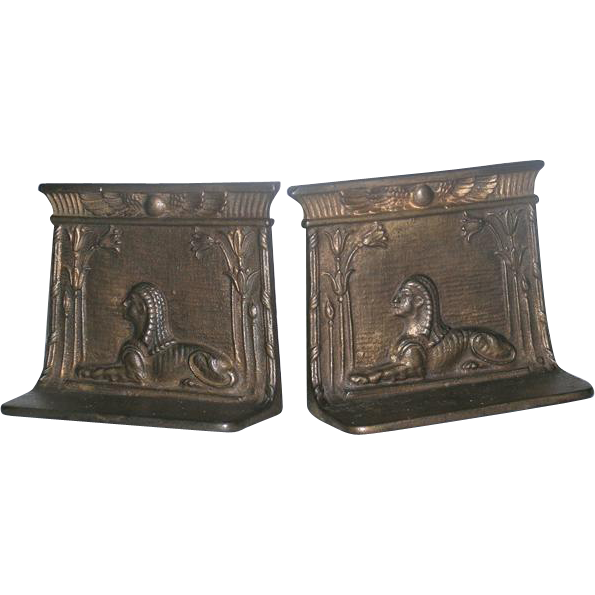 Pair of Aesthetic Movement Egyptian Revival Book Ends