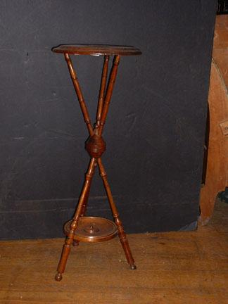 American  Aesthetic Movement walnut tri-pod plant stand