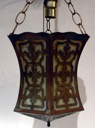 Brass and bent glass light in the Moorish Taste