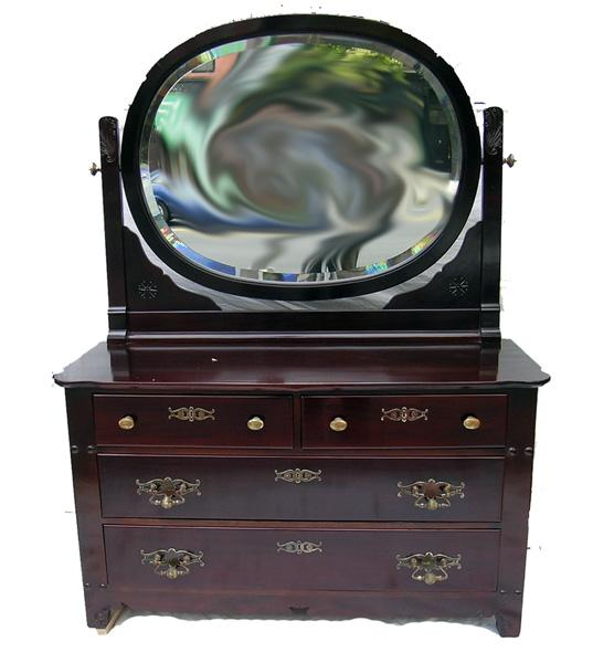 "Signed, ""Horner"" NYC, Late Victorian, Large Mirrored Low-boy"
