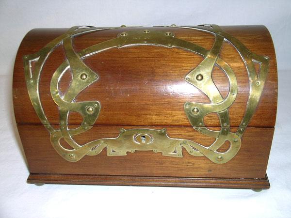 All Original Art Nouveau Jewelry Casket