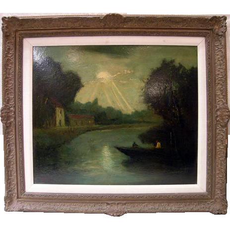 Circa 1895.  Large landscape by George Henry Bogert