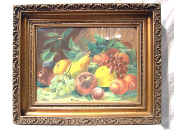 American Victorian Still Life of Fruit, in Pastel