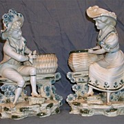 Circa 1900 French Bisque Figures of a Man and Woman