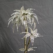 Art Deco Glass Palm Tree Centerpiece
