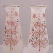 19th Century Bristol Glass Mantel Vases