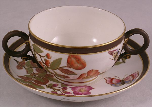 Royal Worcester Bouillon Cup & Saucer