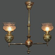 Signed Miller Two Arm Chandelier