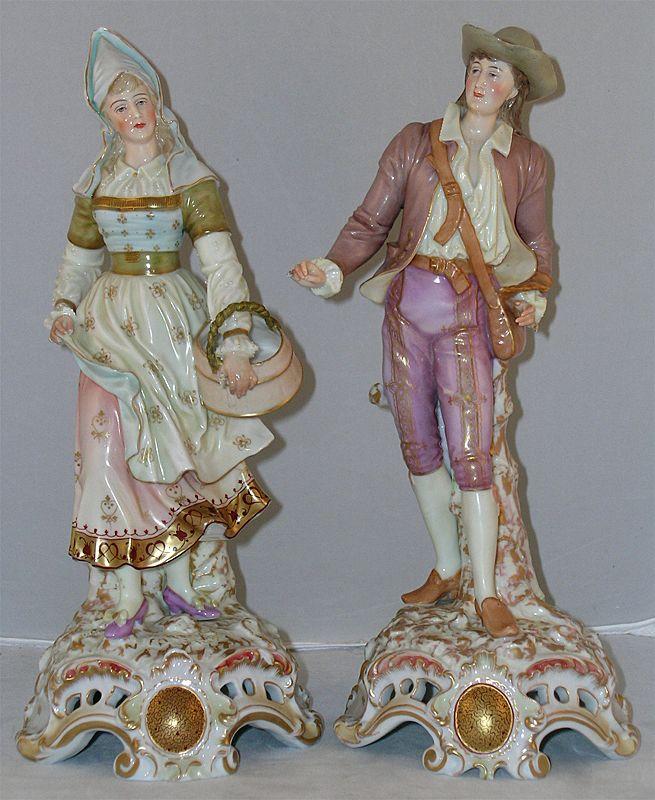 Very Fine Pair of European Figural Statues