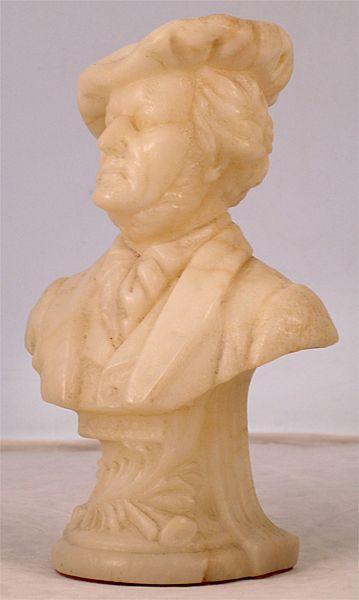 Alabaster Bust of The German Composer Wagner