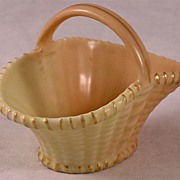Antique Royal Worcester Woven Porcelain Basket