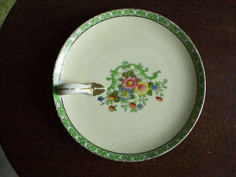 Noritake  Green/Gold Nappy Dish