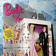 Barbie & Ken Discontinued Two Key Chain Set # 710-1 Enchanted Evening *NIB