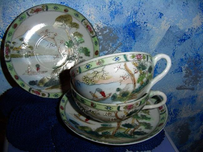 Nippon Hand-Painted Cup and Saucer