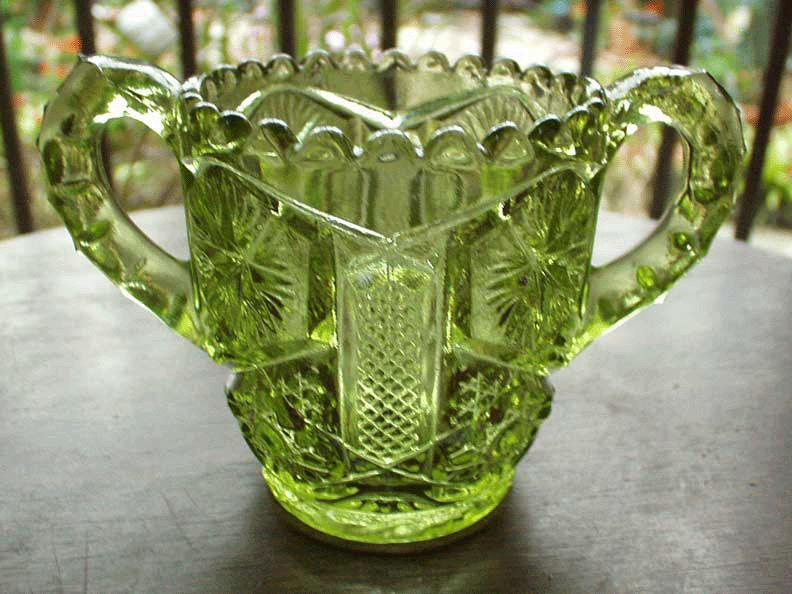 Imperial Green Glass Toothpick holder