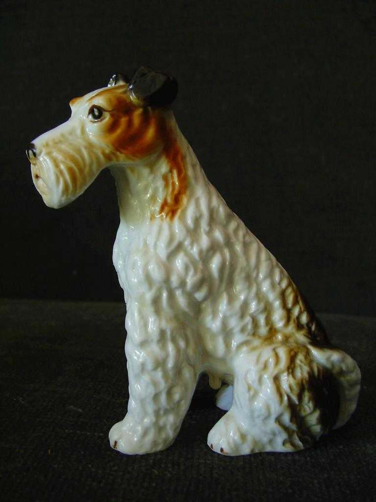 Vintage Bone China Wire Hair Fox Terrier