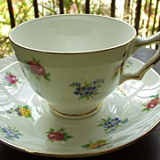 Crown English Bone China Set of Cup and Saucer