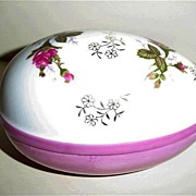 Norleans Moss Rose Egg Shaped DIsh