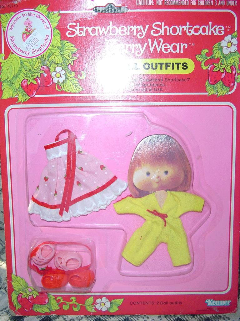 1981 Strawberry Shortcake Berry Quick/Berry Pretty  Wear *NRFB