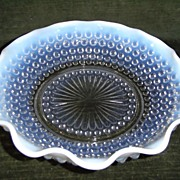 Anchor Hocking Moonstone Opalescent Crimped Bowl