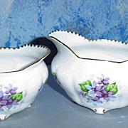Royal Stafford 'Sweet Violets' Set of Creamer and Sugar