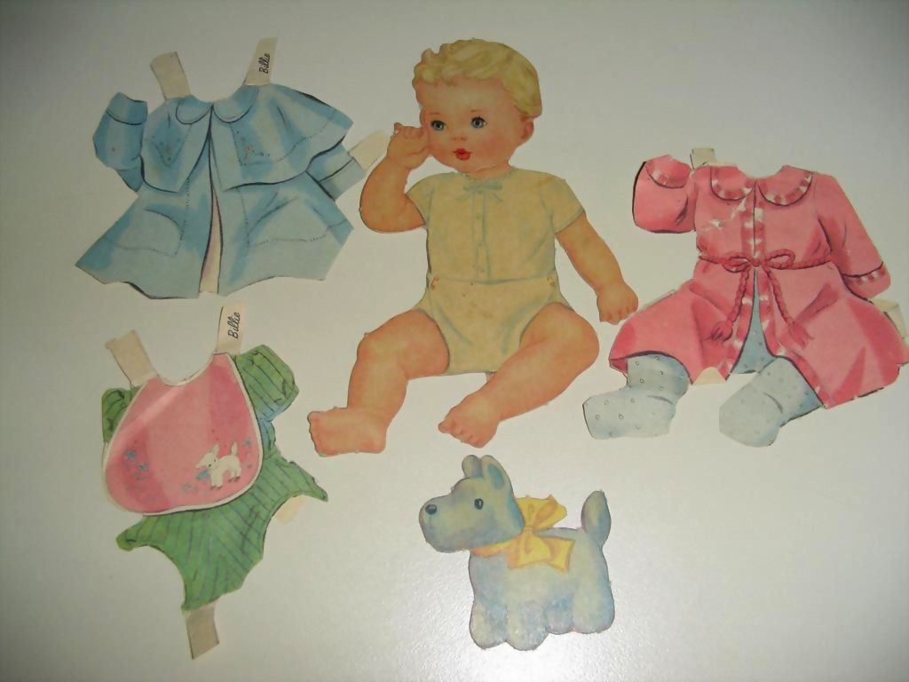 BILLIE 1920's Baby Paper Doll