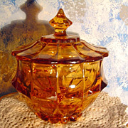 Indiana Amber Glass Candy Dish